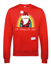 Load image into Gallery viewer, Kids Santa Be Merry Be Kind NHS Sweatshirt - Various Colours