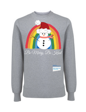Load image into Gallery viewer, Kids Snowman Be Merry Be Kind NHS Sweatshirt - Various Colours