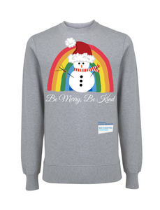 Kids Snowman Be Merry Be Kind NHS Sweatshirt - Various Colours