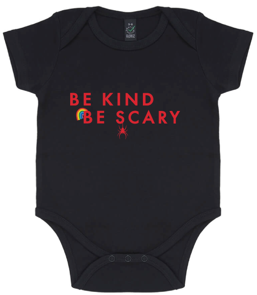Baby Onesie - Be Kind Be Scary Rainbow