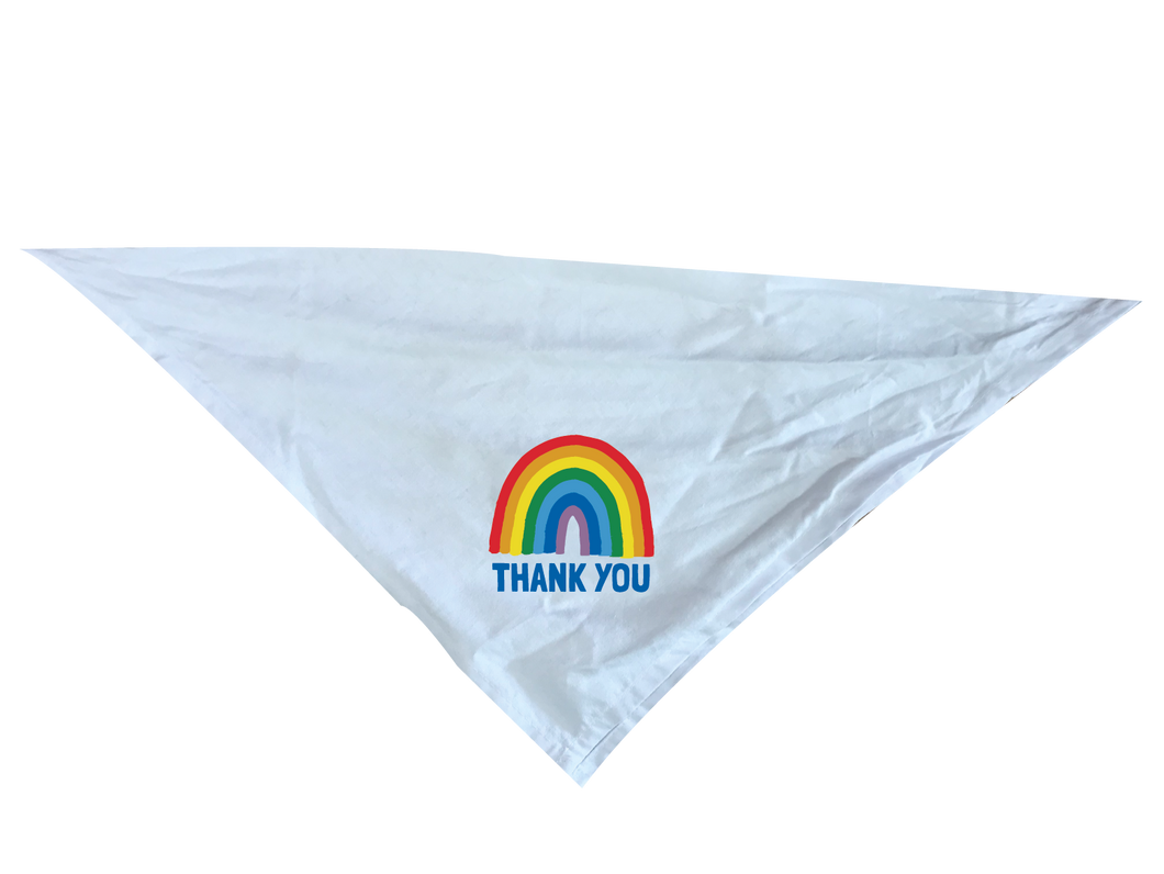 Dog Rainbow Thank You Bandana