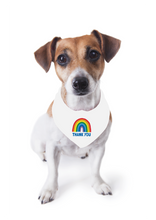 Load image into Gallery viewer, Dog Rainbow Thank You Bandana