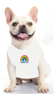 Dog Rainbow Thank You Tee