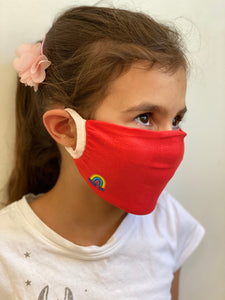 KIDS PACK OF 3 - Thank You NHS Personal Antibacterial Fabric Protection Face Covering / Soft Touch - Pink or Red - Kindred