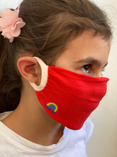 Load image into Gallery viewer, KIDS PACK OF 3 - Thank You NHS Personal Antibacterial Fabric Protection Face Covering / Soft Touch - Pink or Red - Kindred