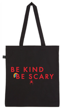 Load image into Gallery viewer, Tote Bag - Be Kind Be Scary