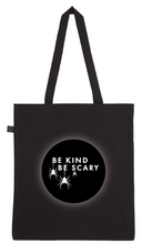 Load image into Gallery viewer, Tote Bag - Be Kind Be Scary Spiders