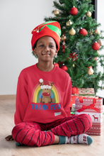 Load image into Gallery viewer, Kids Reindeer Thank You NHS Sweatshirt - Various Colours