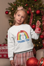 Load image into Gallery viewer, Kids Snowman Thank You NHS Sweatshirt - Various Colours