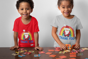 Kid's Santa Thank You NHS Christmas T-Shirt