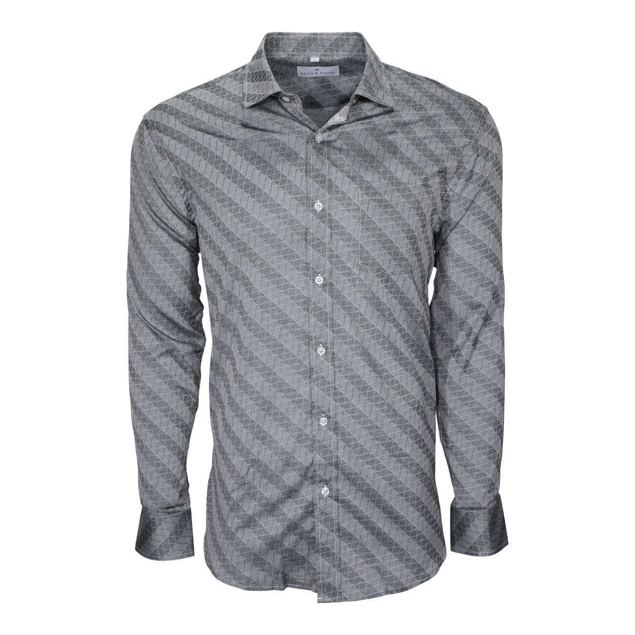 Steel Gray men's long sleeve dress shirt.