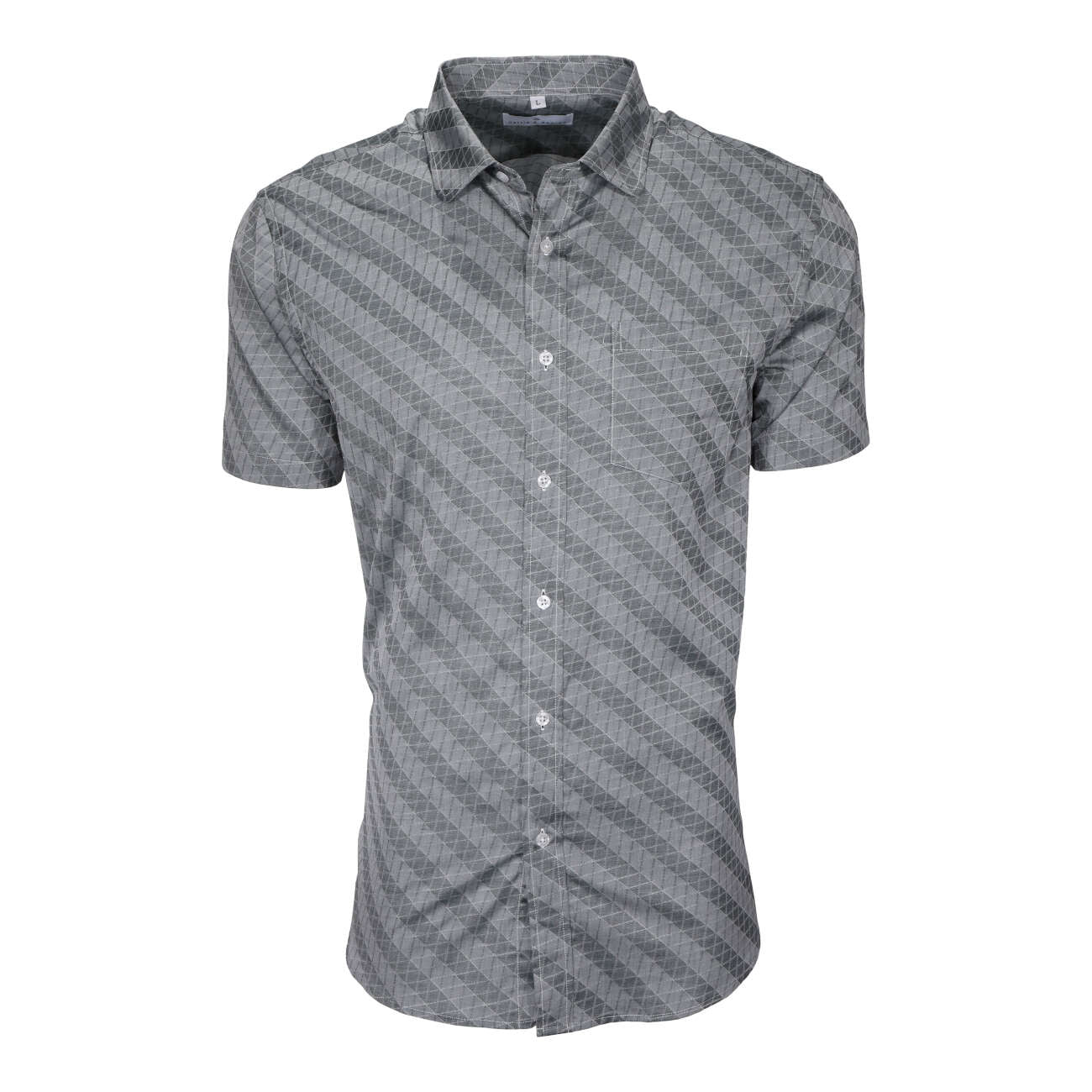 Steel Gray men's short sleeve dress shirt.