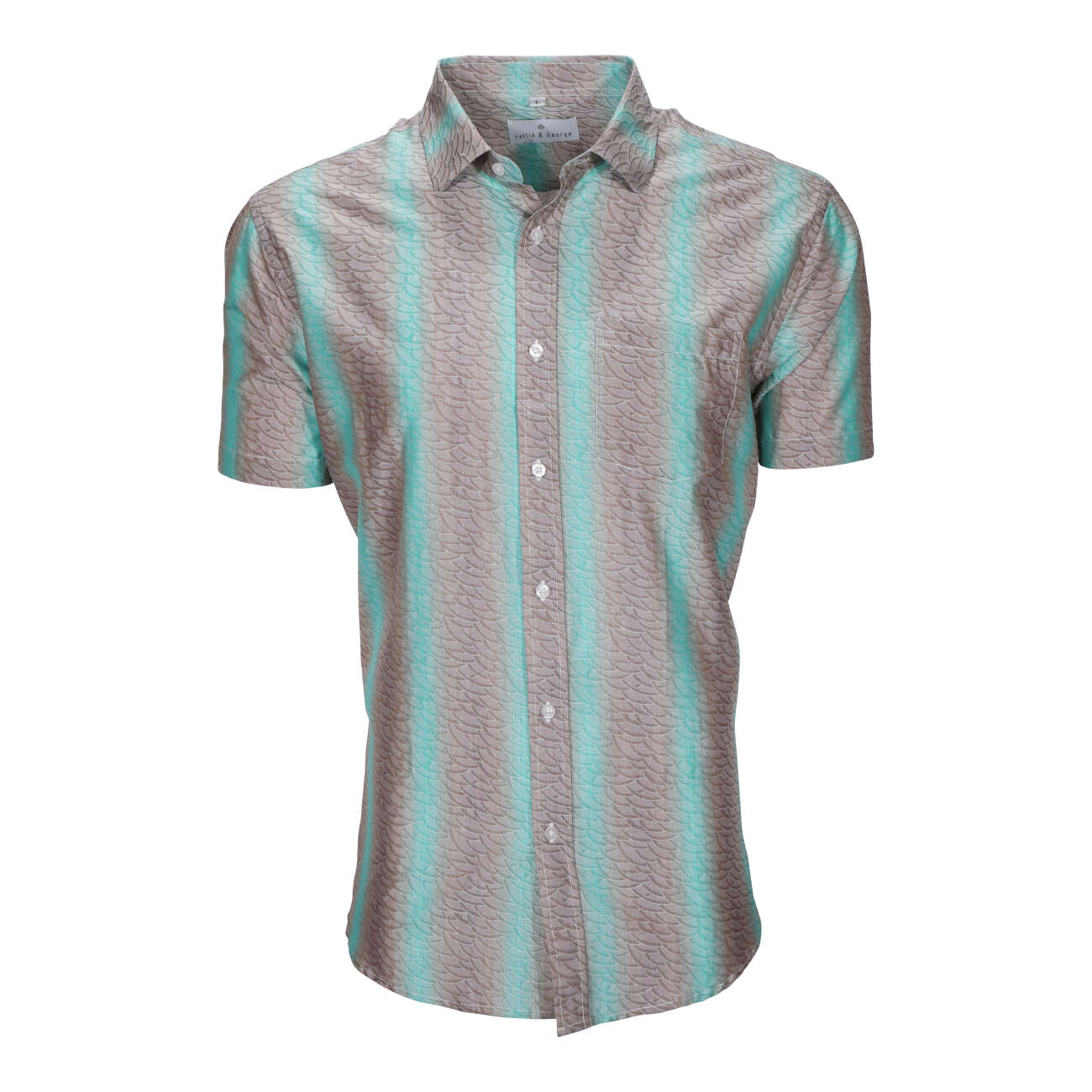 Mint men's short sleeve dress shirt.