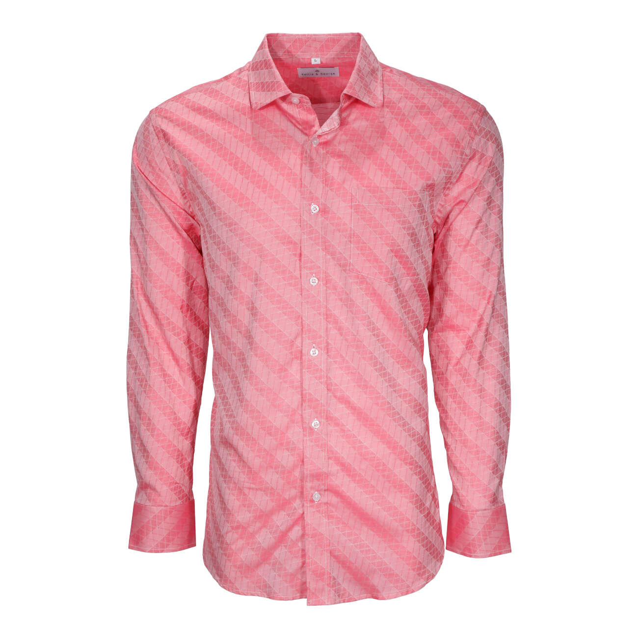 Salmon men's long sleeve dress shirt.