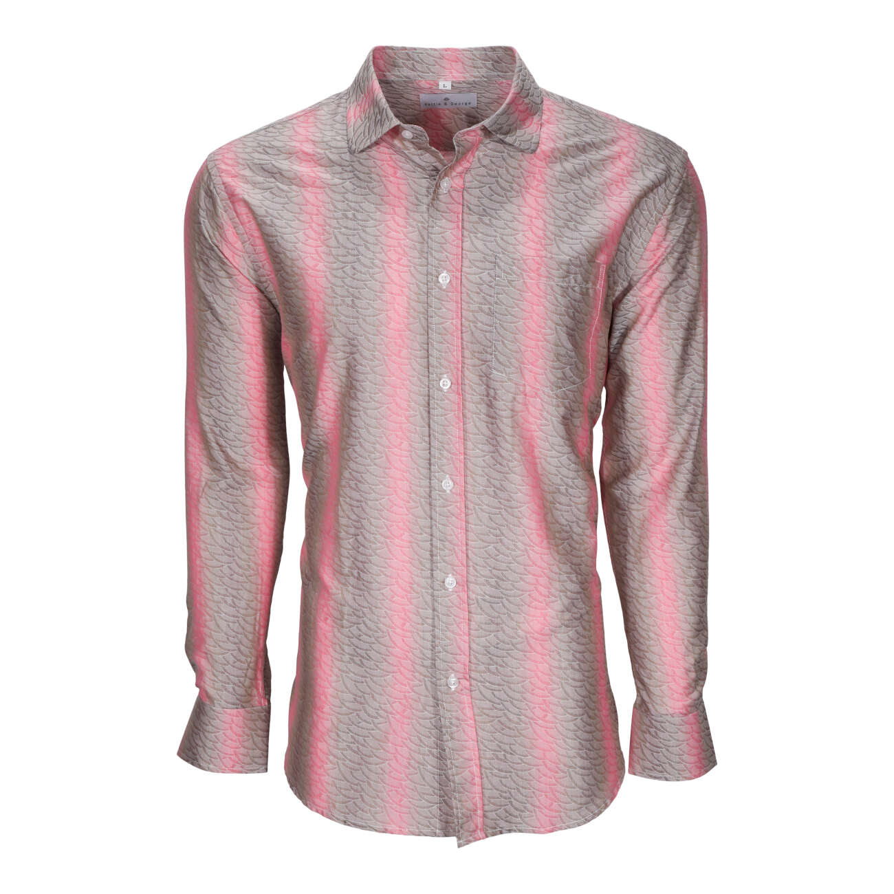 Coral men's long sleeve dress shirt.