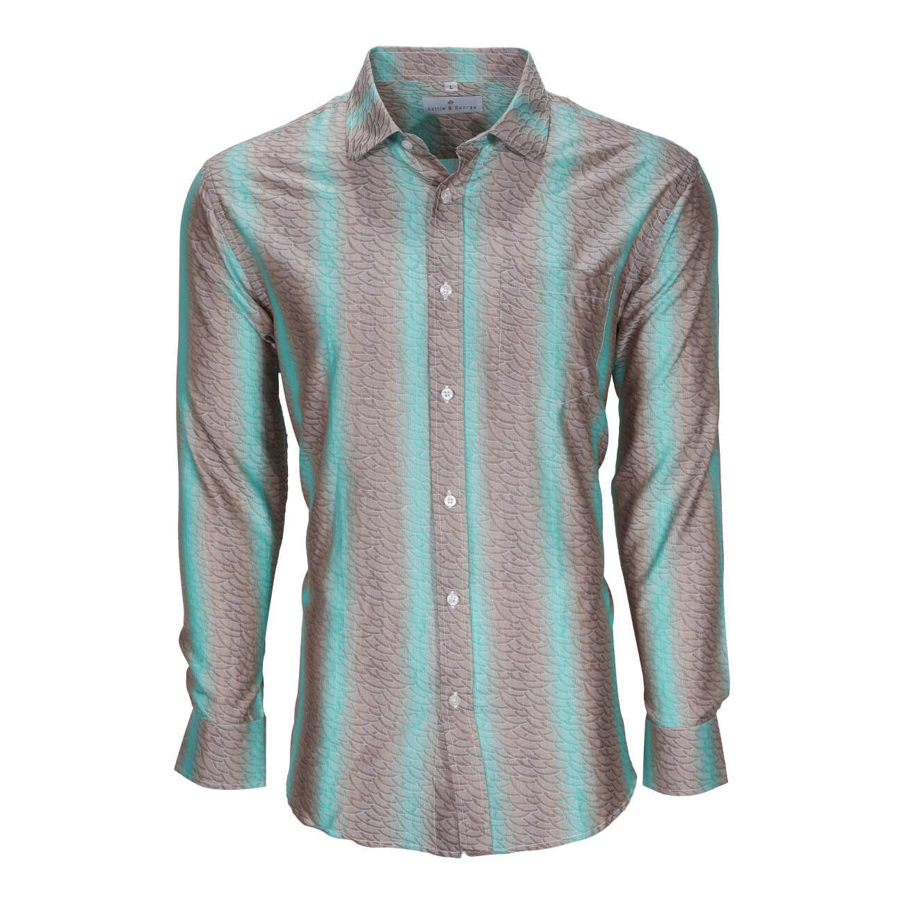 Mint men's long sleeve dress shirt.