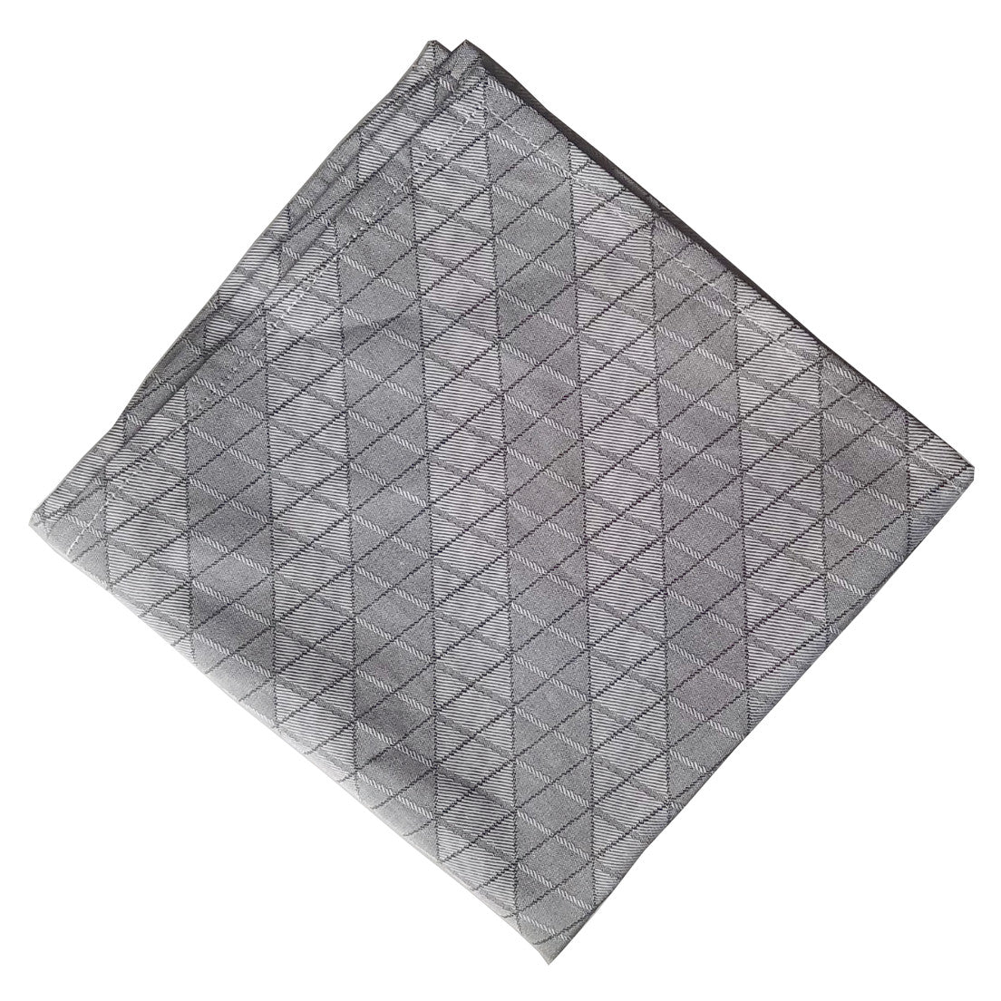 Steel Gray Irian pocket Square