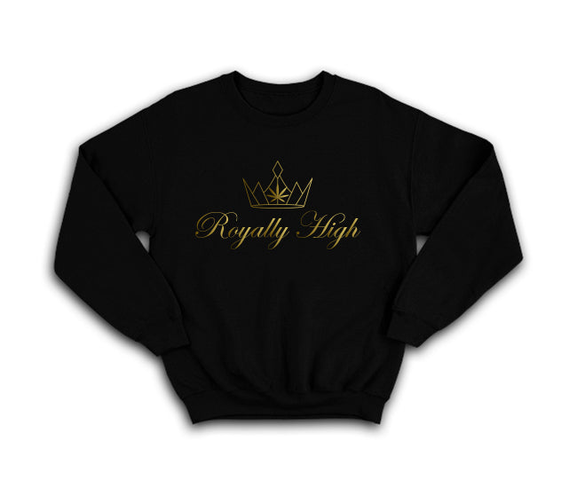 casual 420 Black sweatshirt with large gold logo