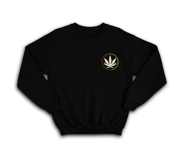 casual black sweatshirt