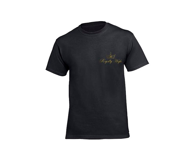 casual 420 black t-shirt for men with Royally High Logo