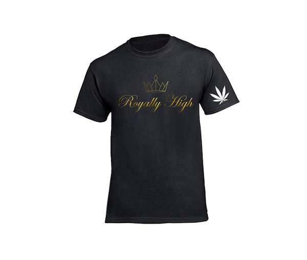 casual black 420 t-shirt for men
