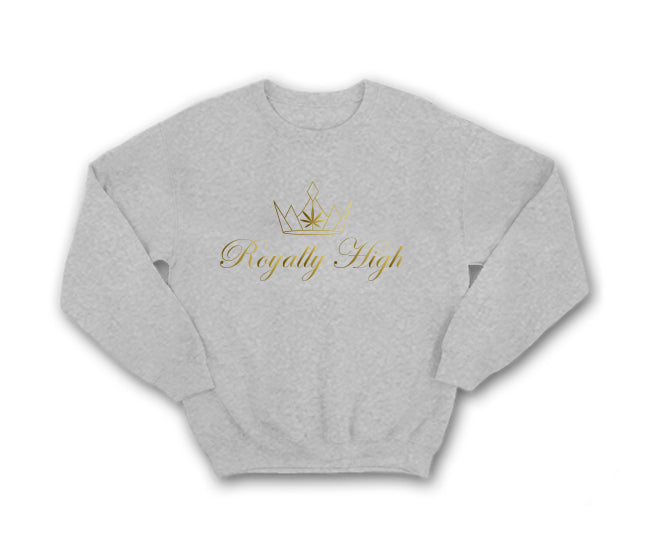 casual 420 Heather grey sweatshirt with large gold logo