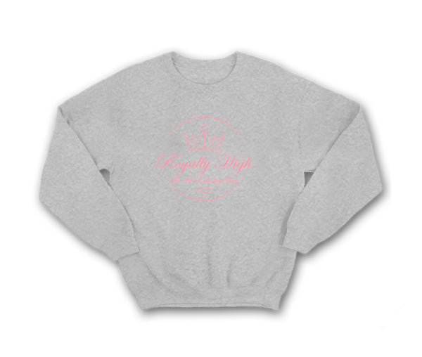 Ladies Heather Grey Sweatshirt with Pink Royally High Design
