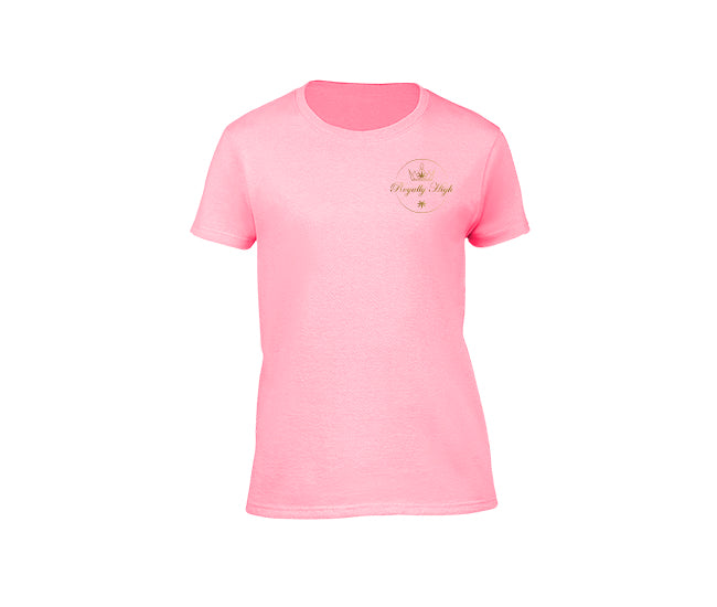 Pink casual 420 t shirt for ladies