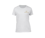 White casual 420 t shirt for ladies
