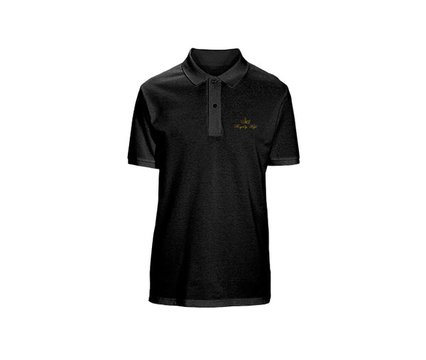 casual black polo for mens