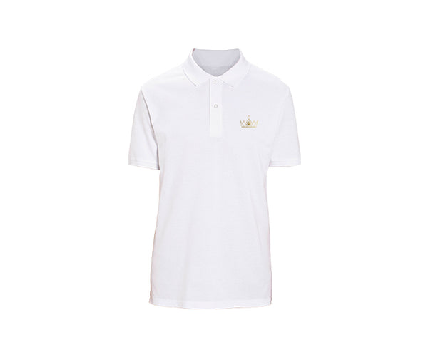casual white polo for mens