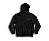Black Hoodie with gold Royally High Crown