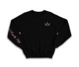 Royally High Black sweatshirt with pink crown