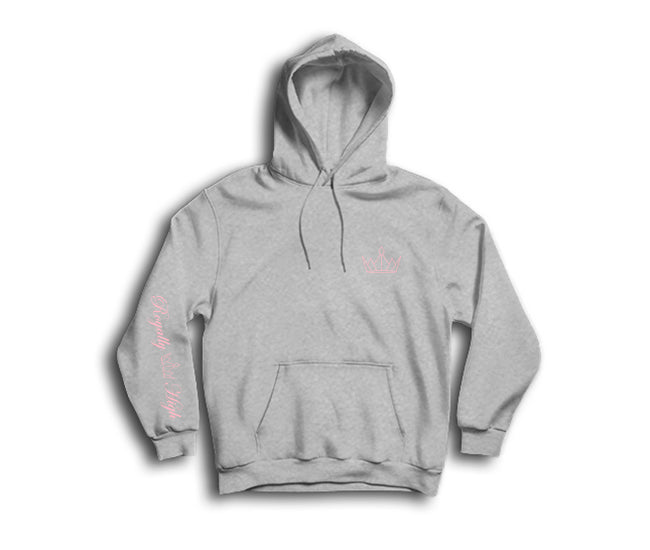 Heather Grey Hoodie with Pink Royally High Crown