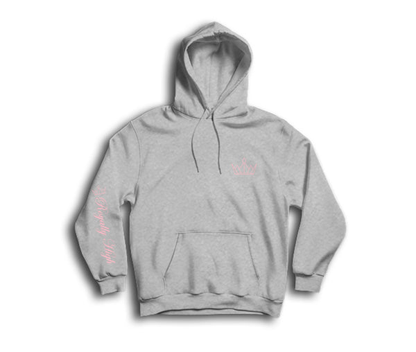 Heather Grey Hoodie with gold Royally High Design