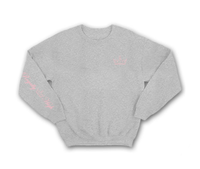 Heather Grey Sweatshirt with Pink Royally High Crown