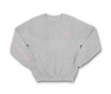 Royally High Heather grey sweatshirt with pink crown