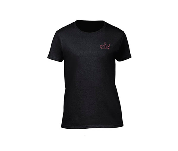 casual black t-shirt for ladies