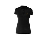 casual black polo for ladies