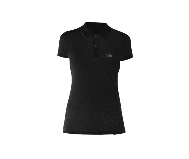 Small Pink Crown Ladies Polo Shirt