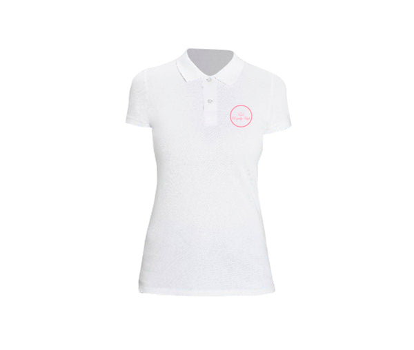 casual white polo for ladies