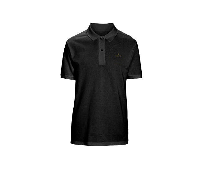 Small Gold Crown Mens Polo Shirt