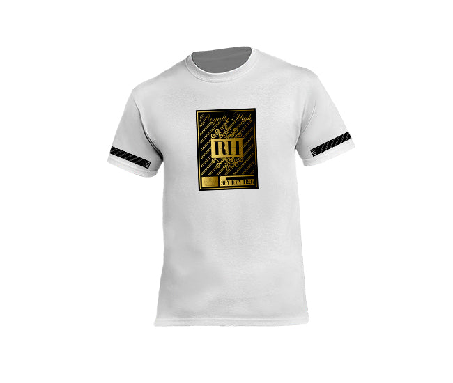 Mens White Streetwear T-shirt