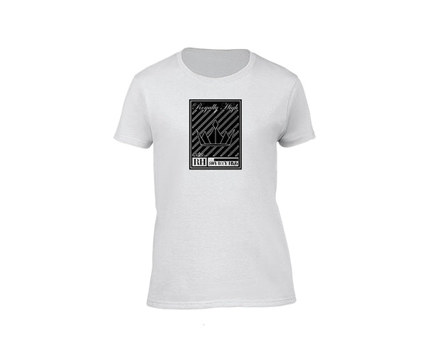Ladies White Streetwear T-shirt with Silver crown