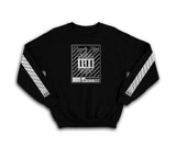 Iconic Black streetwear sweatshirt with silver rh crown design