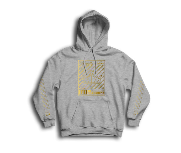 Royally High casual heather grey hoodie with gold crown