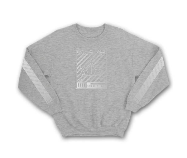 Heather grey Streetwear t-shirt for men with silver crown