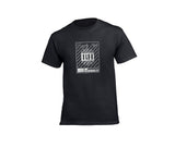 Black streetwear T-shirt with silver rh crown for men