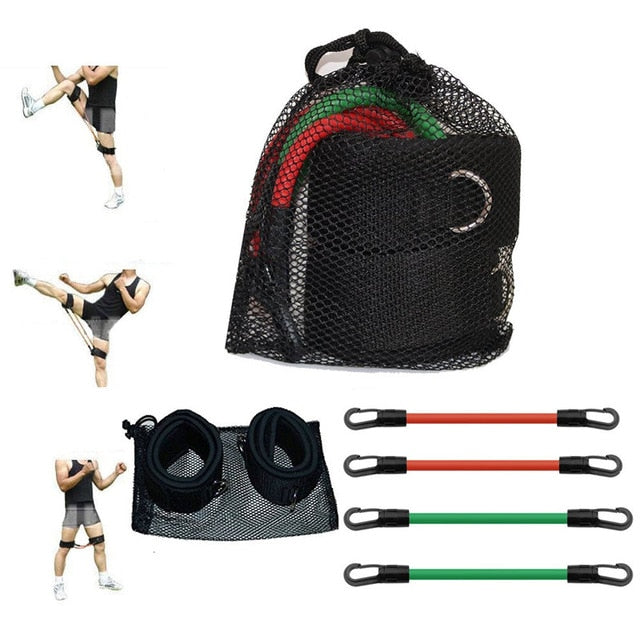 Speed Agility Training Tube Set Leg Running Resistance Bands with Thigh Straps for Fitness Muscle Endurance Strength Workout