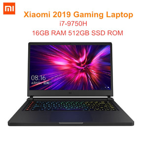 Xiaomi 2019 Gaming Laptop Windows 10 OS Intel Core I7 - 9750H Hexa Core 16GB RAM 512GB SSD ROM Notebook For Business Game Office